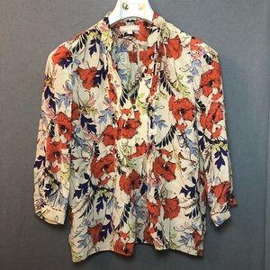 Banana Republic floral blouse